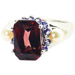 Brilliant Red Zircon Ring
