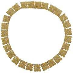 Buccellati Gold Leaf Link Necklace