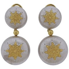 Buccellati Geminato Gold Sterling Drop Earrings