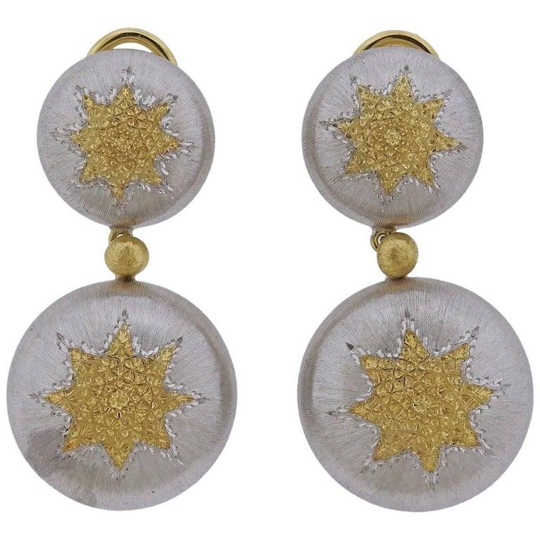 Buccellati Geminato Gold Sterling Drop Earrings