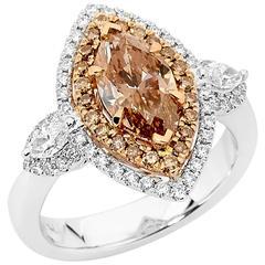 Australian Argyle Chocolate Diamonds Ring