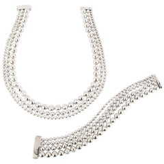 Cartier Moonlight White Gold Diamond Jewelry Suite