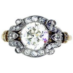 2.06 Carat Diamond Target Ring