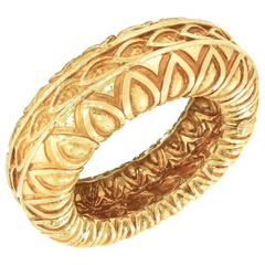 David Webb New York Yellow Gold Bangle Bracelet