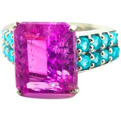 Pink Kuzite Ring