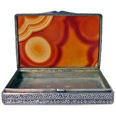 Fratelli Cacchione Agate and Silver Box Case, Italian, circa 1955