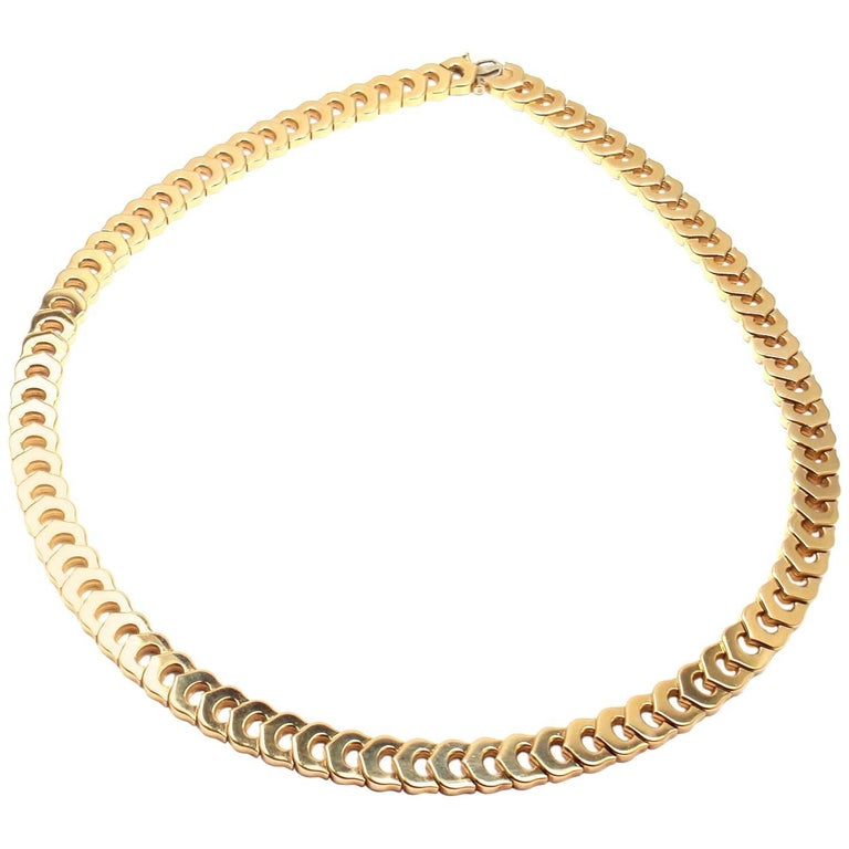 Cartier C De Cartier Link Yellow Gold Necklace