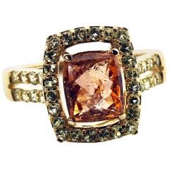 Splendid Rare Imperial Topaz Ring