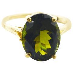 Beautiful Green Tourmaline Ring