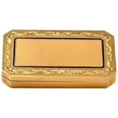 Antique Blue Enamel Gold Box