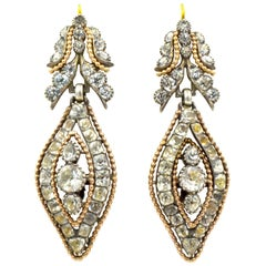 Antique Rock Crystal Floral Earrings