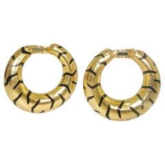Cartier Paris Gold Tiger Stripe Earrings
