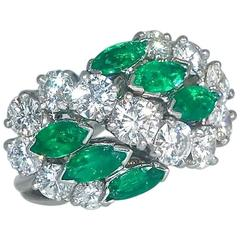 Cartier Diamond Emerald Ring