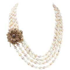 Luise Tourmaline Iolite Four Strands Beaded Necklace