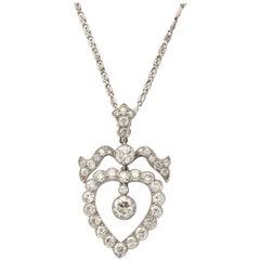 Exquisite Diamond Heart Pendant
