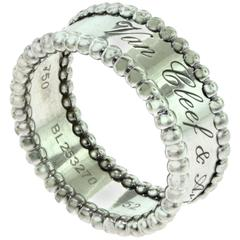 Van Cleef & Arpels Perlée Signature Ring in 18 Karat White Gold