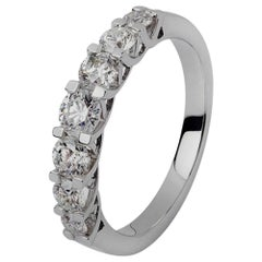 Seven White Diamonds Engagement Ring