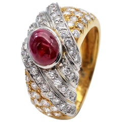 Tabbah Diamond and Ruby Ring