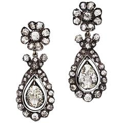 Pair of Victorian Diamond Earrings