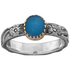 Emma Chapman Turquoise Yellow Gold  Silver Ring