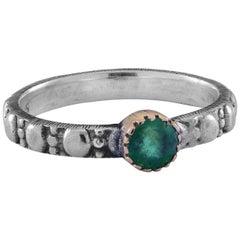 Emma Chapman Emerald Yellow Gold & Silver Ring