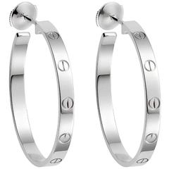 Cartier Love Gold Hoop Earrings