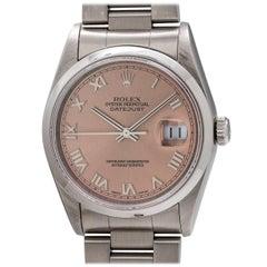 Rolex Stainless Steel Datejust Self Winding Wristwatch Ref 16200, circa 1997