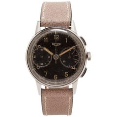Heuer Stainless Steel Chronograph Wristwatch Ref 333, circa 1940s