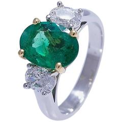 Geiss & Sons Emerald and Diamond Ring