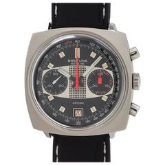 Breitling Geneve Stainless Steel Sporting Chronograph Manual Wind Wristwatch