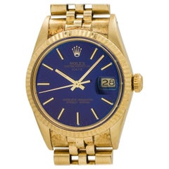 Rolex Yellow Gold Oyster Perpetual Date Self Winding Wristwatch, Ref 15037