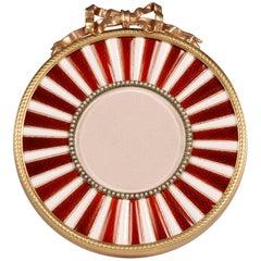 Rare Fabergé Enamel Pearl Photograph Frame