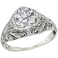 Antique GIA Certified 1.14 Carat Diamond Engagement Ring