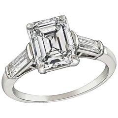 1950s 1.94 Carat Diamond Engagement Ring