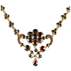 Antique Victorian Garnet Necklace, circa 1880