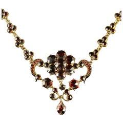 Antique Victorian Garnet Necklace, circa 1880