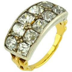Antique Peruzzi Cut Diamond Ring