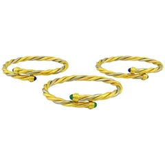 Cartier Yellow and White Gold Set of Three Twist Bracelets