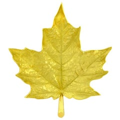 Tiffany & Co. Gold Maple Leaf Brooch
