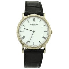Patek Philippe White Gold Calatrava Wristwatch, Ref 3802