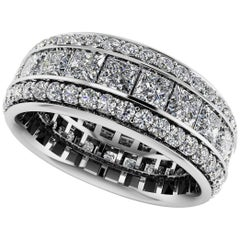 Three-Row Eternity Band