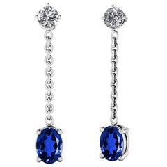 Oval Diamond Earrings