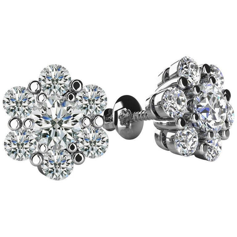 Everyday Diamond Earrings For Sale