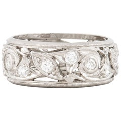 Platinum Openwork Diamond Ring