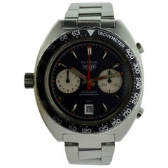 Tag Heuer Stainless Steel Autavia Chronograph Manual Wristwatch
