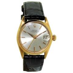 Rolex Rose Gold Three-Quarter Size Date Perpetual Winding Watch