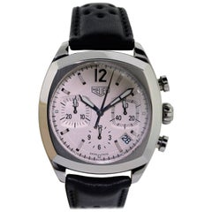 Heuer Stainless Steel Cushion Shaped Monza Chronograph Automatic Wristwatch