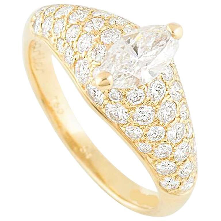 Cartier Marquise Diamond Engagement Ring
