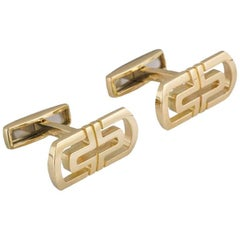 Bulgari 18 Karat Yellow Gold Parentesi Cufflinks