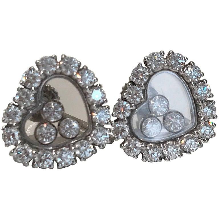 Chopard Happy Diamond Earrings 1